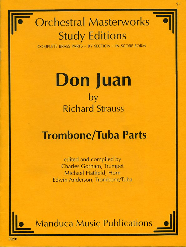 Don Juan, Opus 20 Trombone/Tuba Parts by Richard Strauss