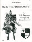 Heroic Music for Brass Quintet, Telemann, Dana Russian
