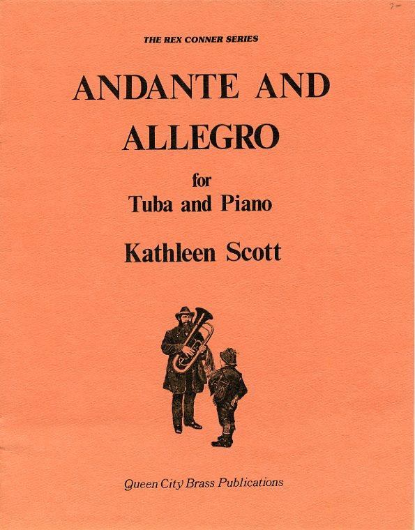 アンダンテ&アレグロ(キャサリーン・スコット)(テューバ+ピアノ)【Andante and Allegro】
