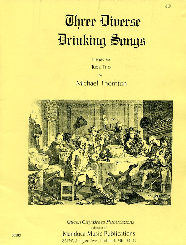 Three Diverse Drinking Songs(テューバ三重奏)【Three Pieces from King Henry VIII】