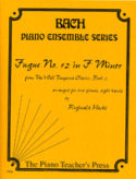 Fugue #12 in F Minor for 2-Pianos, 8 Hands, J. S. Bach, Reginald Hache