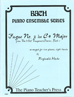 Fugue # 3 in C# Major for 2-Pianos and 8-Hands, J. S. Bach, Reginald Hache